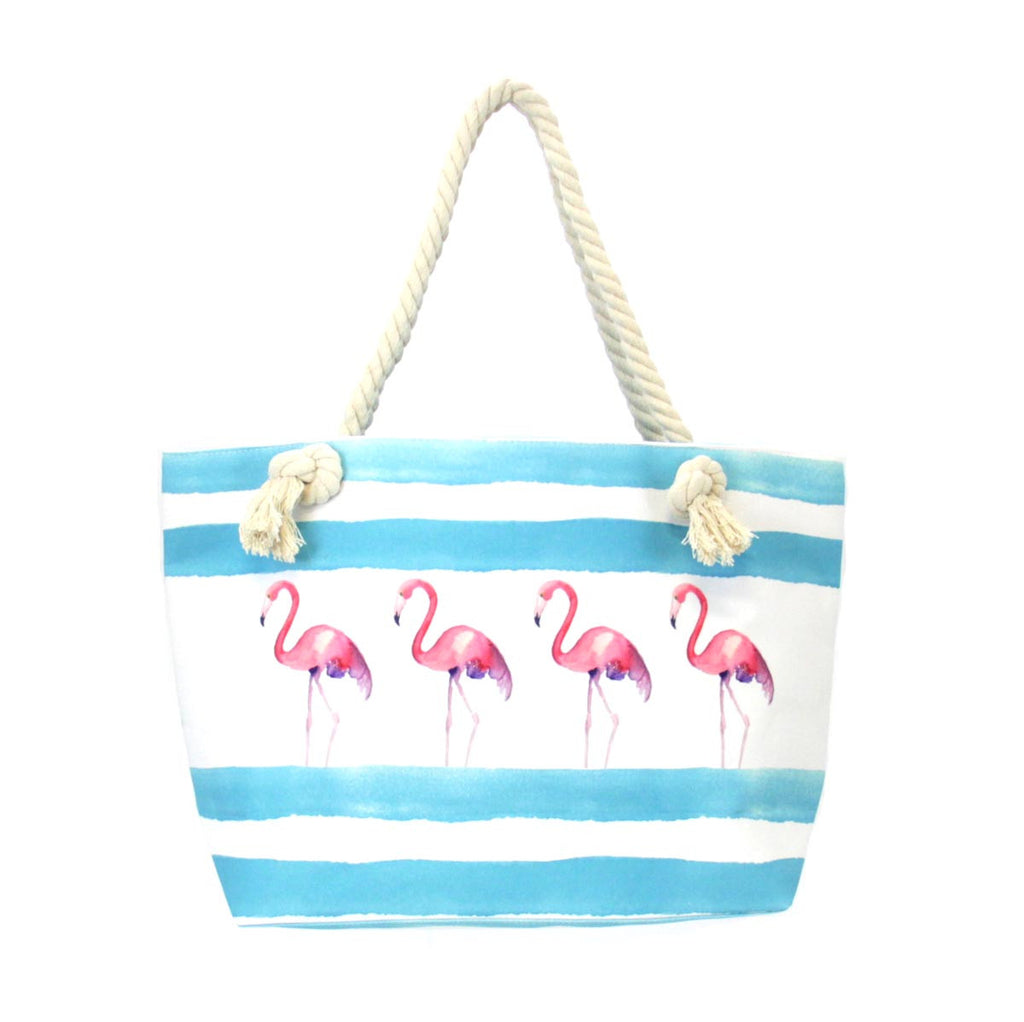 Beach Design Tote Bag - Flamingo