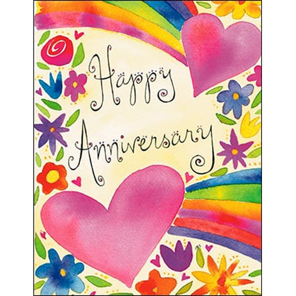 Anniversary Card: Happy Anniversary with Hearts