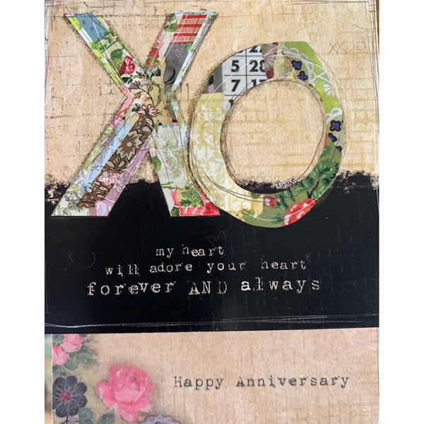 Anniversary Notions Card: XO my heart will adore your heart....