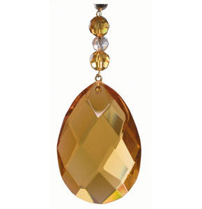 Light Charms - Amber Faceted Almond