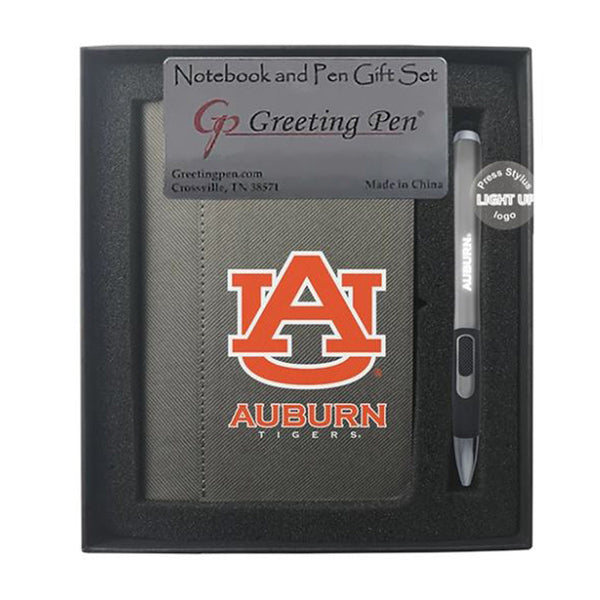 Auburn Small Notebook & Light Up Pen Set