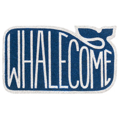 """Whalecome"" Door Mat"