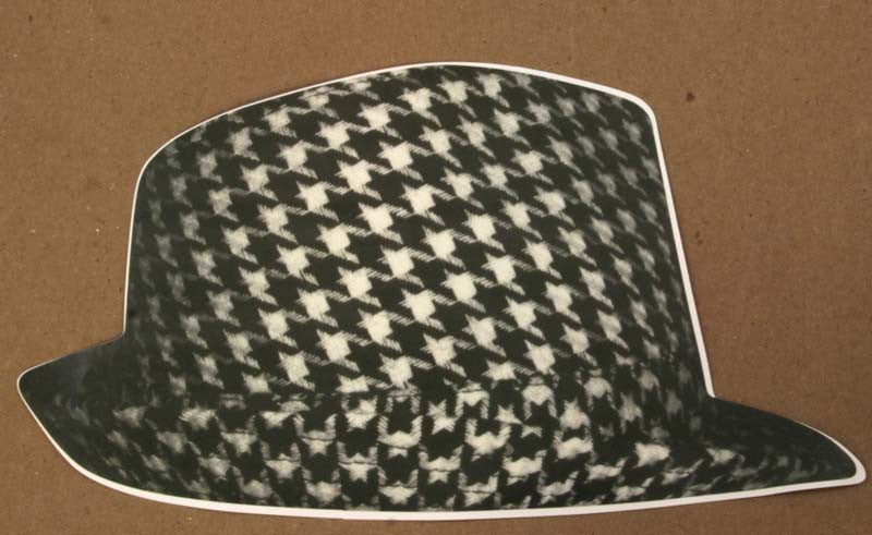 Houndstooth Hat Sticker