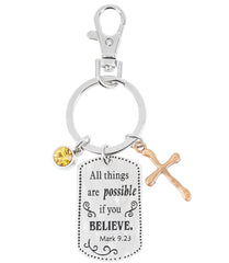 All things are possible if you BELIEVE-keychain
