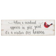 """When a cardinal appears..."" Wall Plaque"