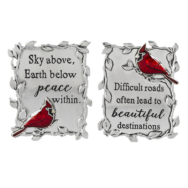 Always in my Heart Cardinal Car Visor Clips