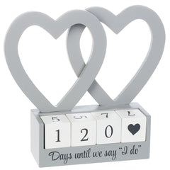 """Days until we say ""I do"" Perpetual Calendar"