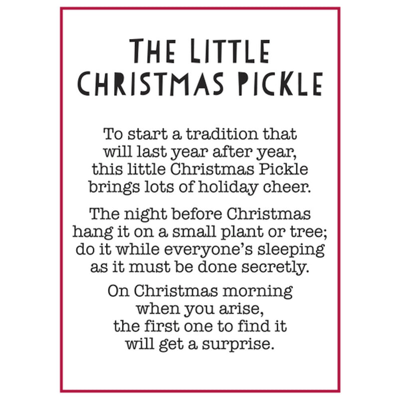 """The Little Christmas Pickle"" Charm/Token"