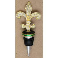 Wine Stopper Purple Green & Gold