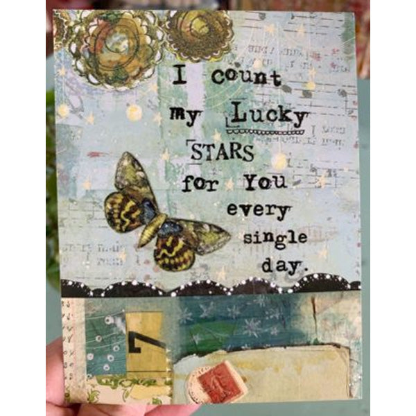"""I count my lucky stars for you..."" Card"