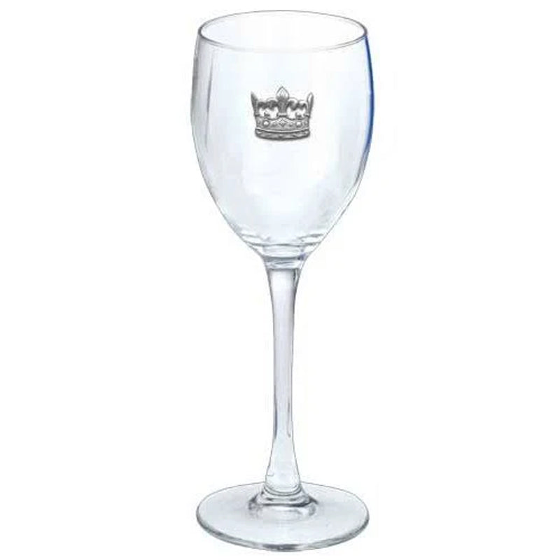 Clear Goblet w/Pewter Crown