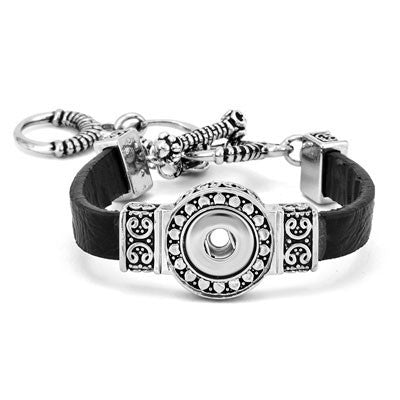 Petite Ginger Snaps 1-Snap Black Filigree Bracelet