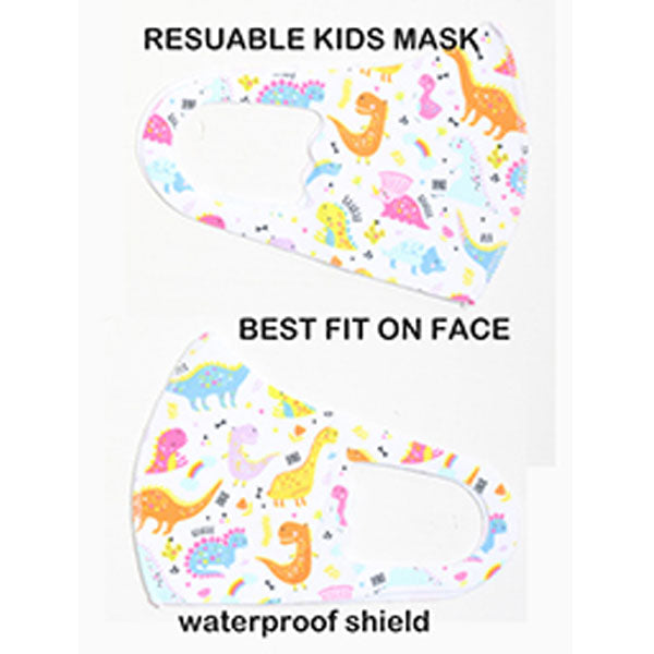 Child's Dinosaur Face Mask, Cotton
