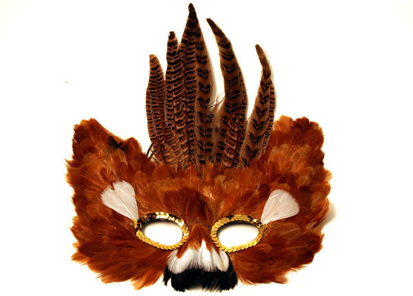 Feather Mask Brown
