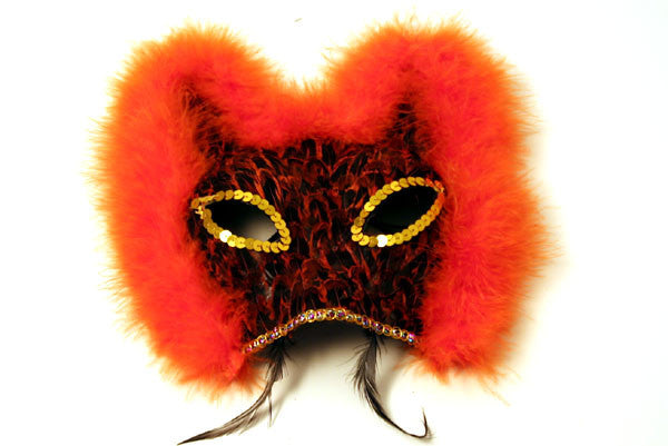 Feather Mask Orange
