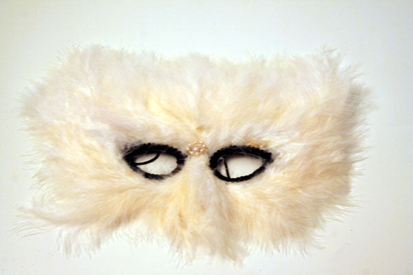 Feather Mask White