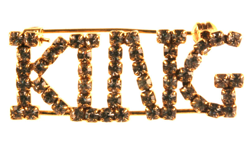 King Rhinestone Pin