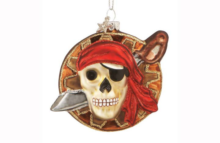 Pirate Skull Ornament