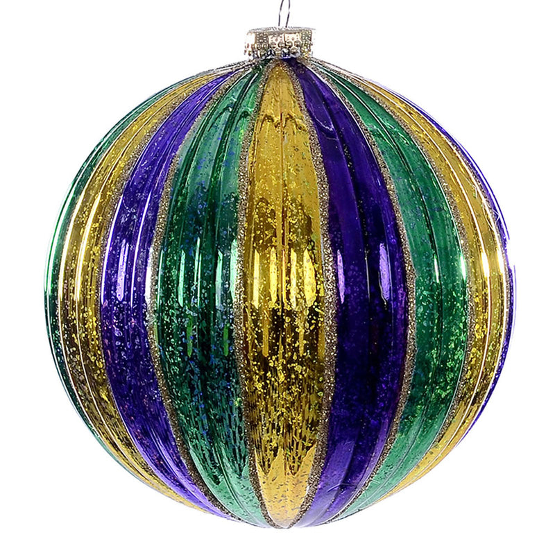 "6"" Purple Gold Green Stripe Ball"