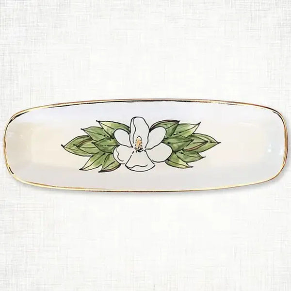 Magnolia Bread Tray, Ceramic