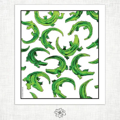 Alligator Design Kitchen Towel