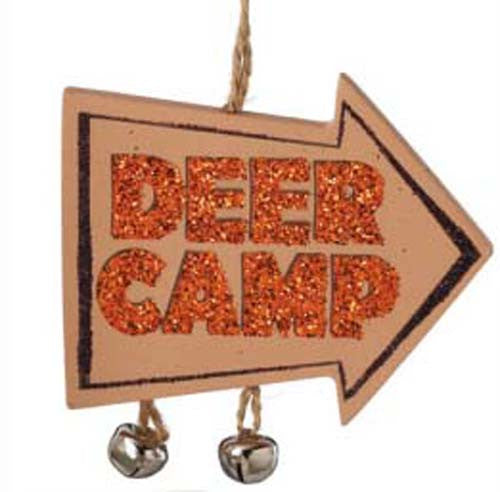Arrow Sign Deer Camp Ornament