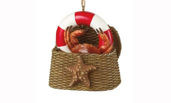 Crab in a Basket Ornament
