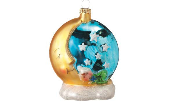 Baby on the Moon Ornament