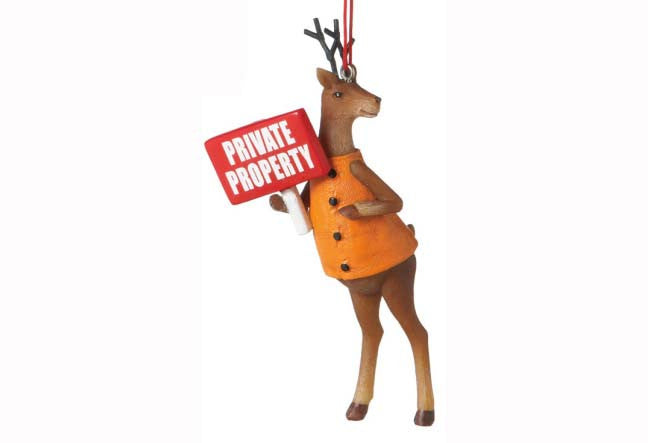 Deer Sign Private Ornament