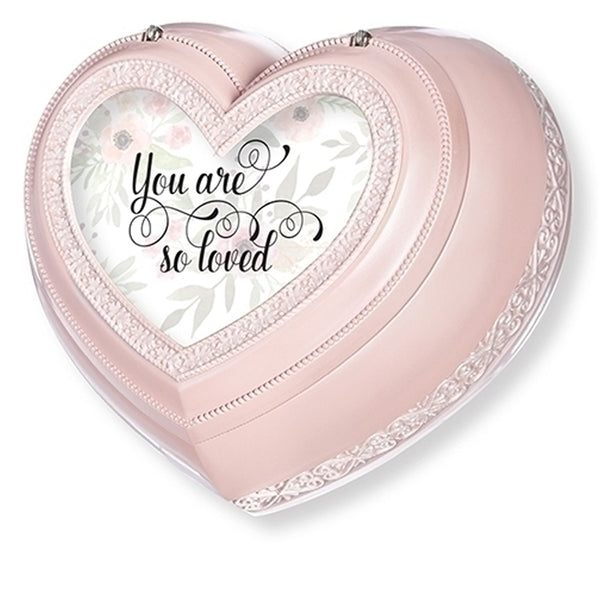 """You are So Loved"" Pink Heart Music Jewelry Box"