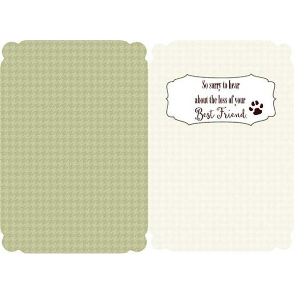 "Pet Sympathy Card: ""Huge heart, short little life, big love..."", (dog)"