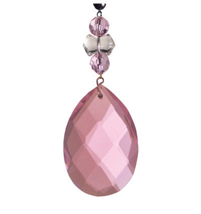 Light Charms - Pink Faceted Almond