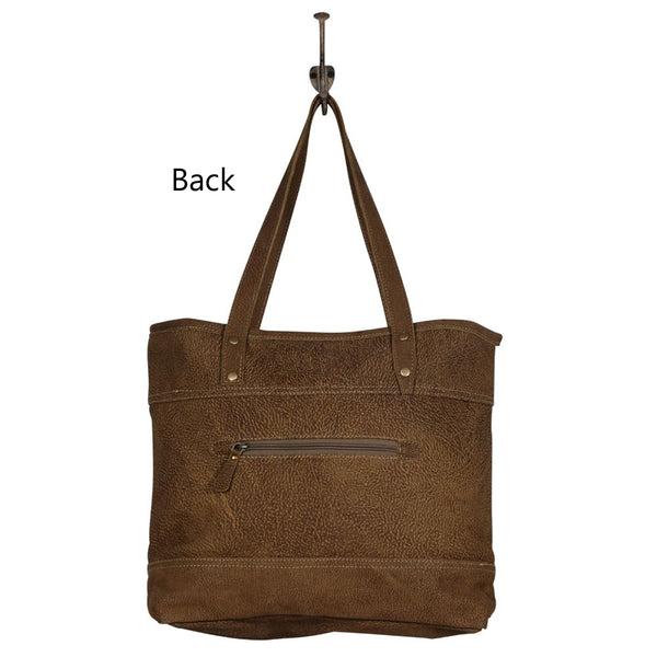 Myra Largish Leather Tote Bag