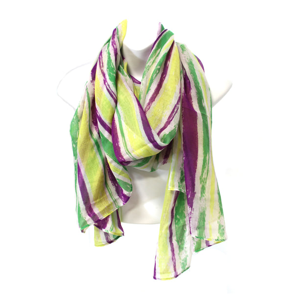 Striped Scarf Mardi Gras