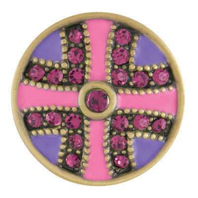 Ginger Snaps Flutter- Pink & Purple Antique Brass