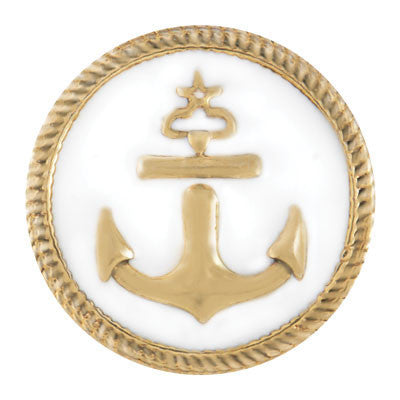 Ginger Snaps Anchor Gold Snap-White