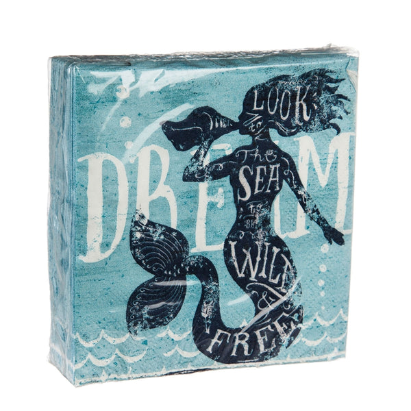 Mermaid Dream Paper Cocktail Napkin, 40ct.