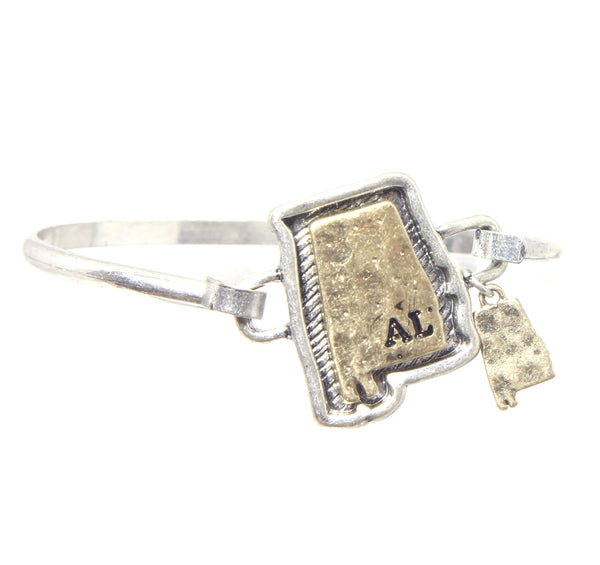 State of Alabama Bangle Bracelet