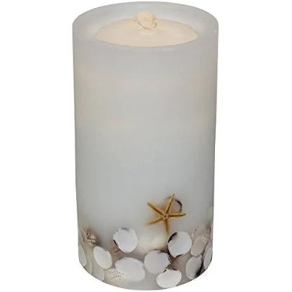 Aquaflame Candle White with Shells