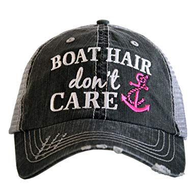 "Katydid Hat ""BOAT HAIR don't CARE"""