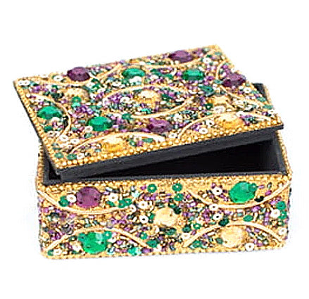 Gold Rectangle Mardi Gras Box