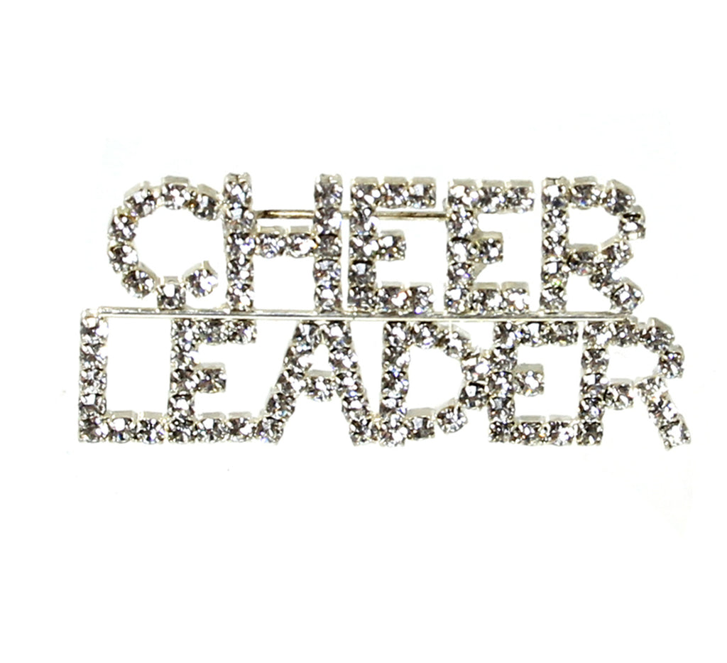 """CHEERLEADER"" Pin with Crystals"