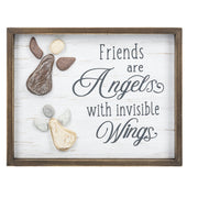 """Friends are angels..."" Wall Plaque"