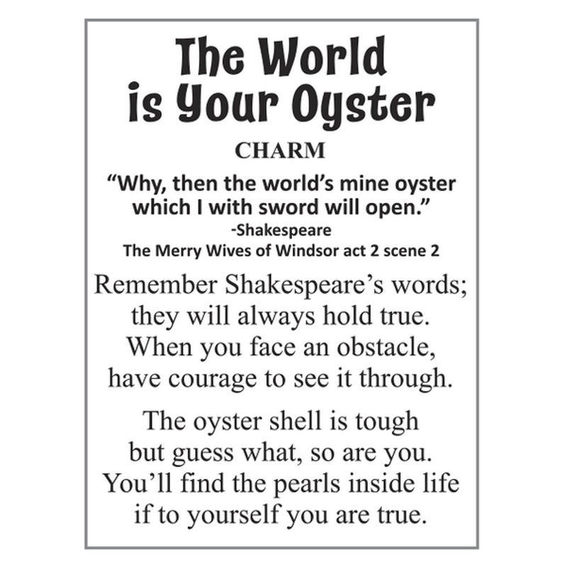 """The World Is Your Oyster"" Charm/Token"