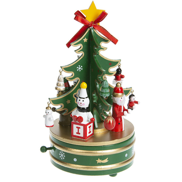 Christmas Tree Wind Up Music Box
