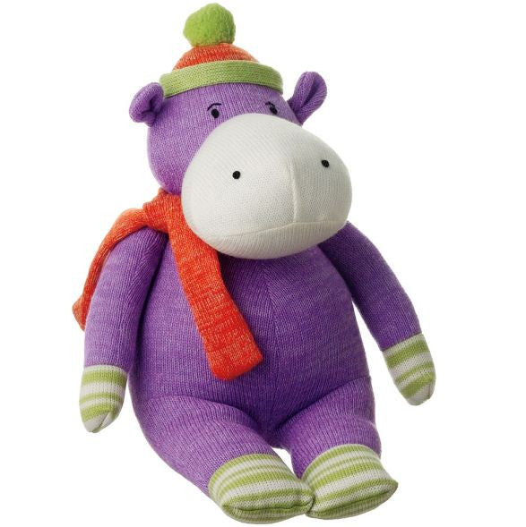 Harper Medium Purple Hippo Plush Toy