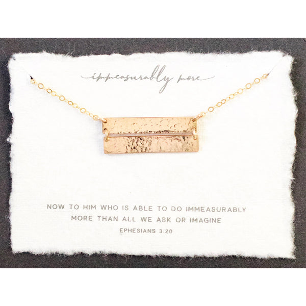 """Immeasurably More"" Necklace,  14k Gold filled"