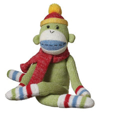 Jo Jo Small Green Sock Monkey Plush Toy