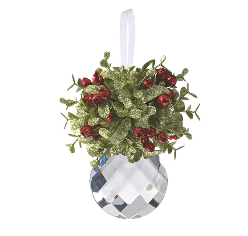 Mistletoe Teardrop Ornament