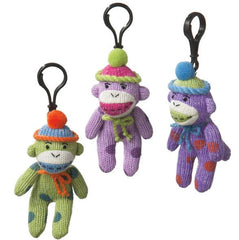 Polka Dot Monkey Clip Purple/Blue